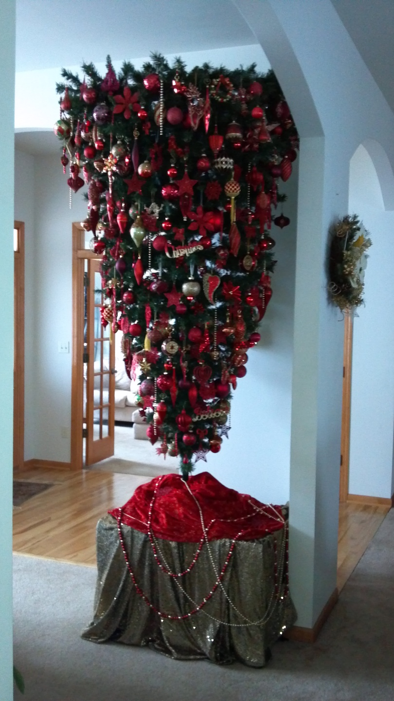 2012 Red Gold Upside Down Tree