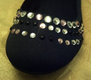 Blinged Out Flats Front Close Up