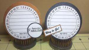 TCC 2013 Goal Calendar Clock Journal Cards for Mar. and Apr.