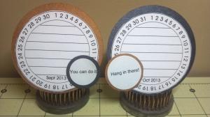 TCC 2013 Goal Calendar Clock Journal Cards for Sept. and Oct.