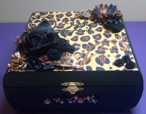 Leopard Print Altered Box