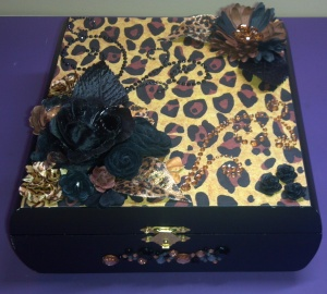 Leopard Print Altered Box Top