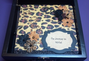 Leopard Print Altered Box Mini Album