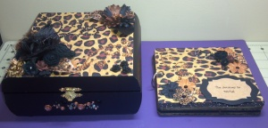 Leopard Print Altered Box and Mini Album