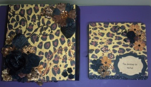 Leopard Print Altered Box and Mini Album Top View