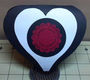 Heart Lace Shaped Card Inside - The Cutting Cafe Design Team Project