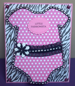 Little Fashionista Onesie Card - The Cutting Cafe Design Team Project