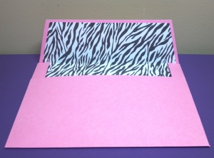 Little Fashionista Onesie Card Matching Envelope - The Cutting Cafe Design Team Project