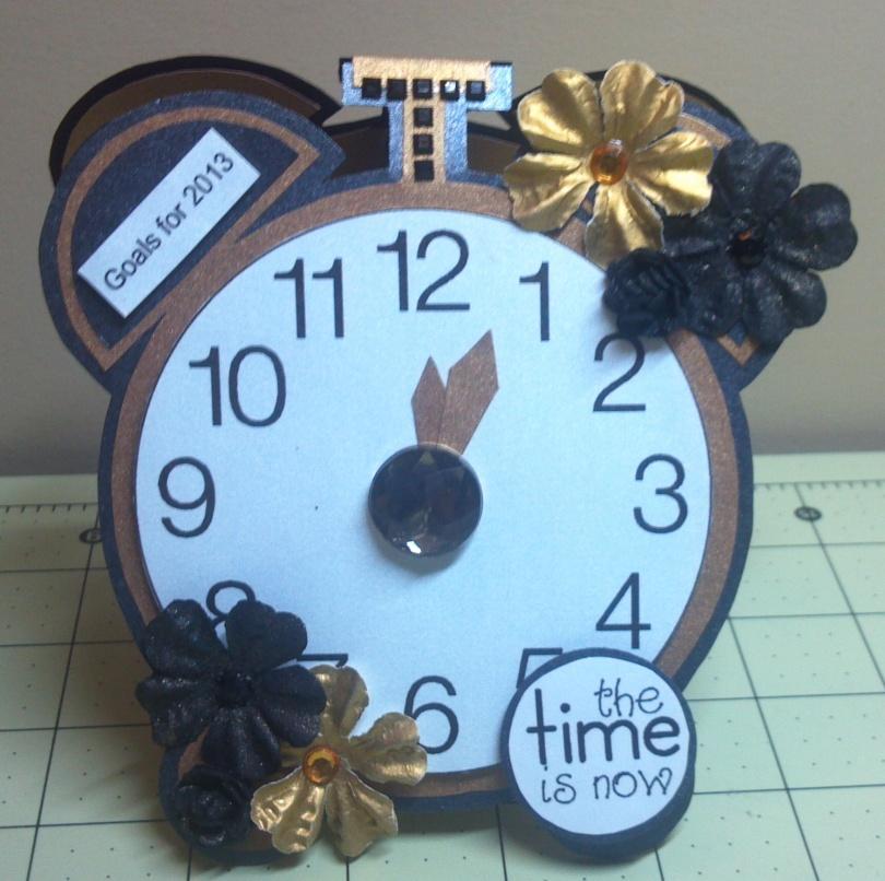 TCC 2013 Goal Calendar Clock Front View