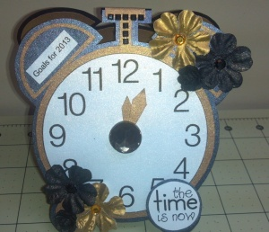TCC 2013 Goal Calendar Clock Front View with Flash On