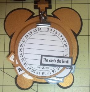 TCC 2013 Goal Calendar Clock Inside Close Up Journal Cards