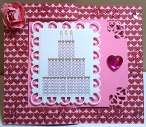 Valentine Birthday Flip Card