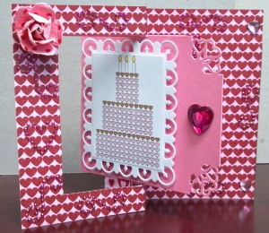 Valentine Birthday Flip Card Open Front
