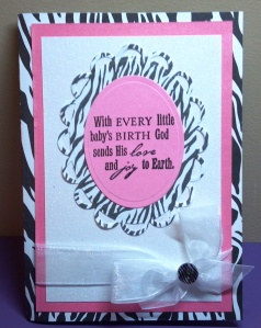 Zebra Baby Shower Card