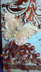 Altered Canvas - Butterfly Detail