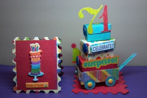 Birthday Celebration Card and Wagon