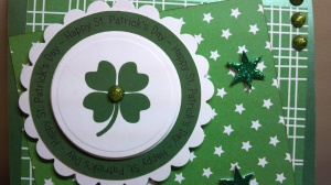 St. Patrick's Day Card Sentiment Close Up