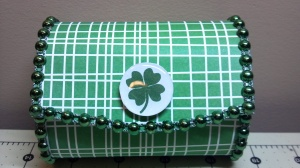 St. Patrick's Day Balsa Box Front