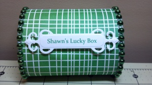 St. Patrick's Day Balsa Box Back