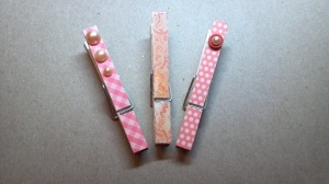 Peach Altered Clothes Pins