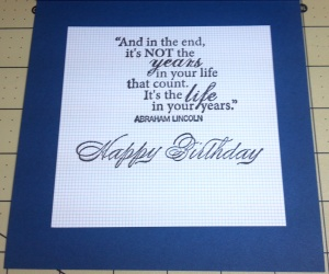 Masculine Birthday Card Inside