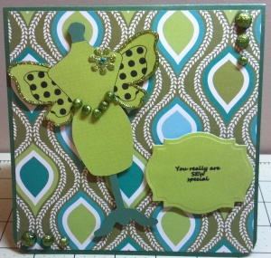 Dress Form with Wings Card