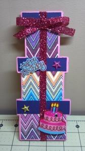Tall Present Card
