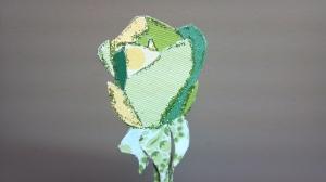 Beautiful Rose Paper Piecing Close Up