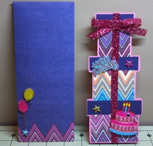 Tall Present Card and Button and String Envelope
