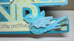 Keep Calm and Stay Positive Card Close Up View Two