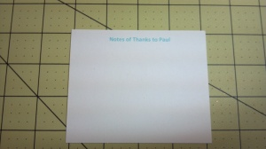 Note Card For Mailbox