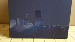 Paper Mailbox Chicago Skyline Back - Close Up