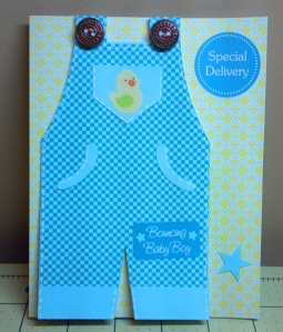 Overalls Baby Shower Card