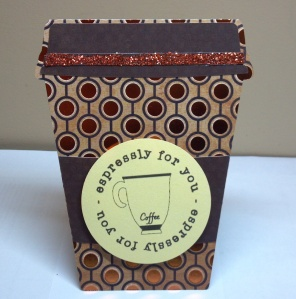 Latte Shaped Cup Birthday Card