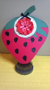 Strawberry Shaped Birthday Card