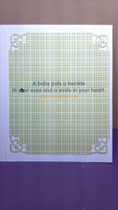 Baby Card Inside