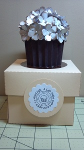 White Cupcake and Coordinating Box