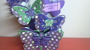 Blingalicious Butterfly Treat Box - Back Close Up View