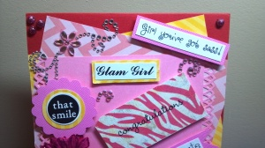 All About Girls Girly Girl Card - Close Up