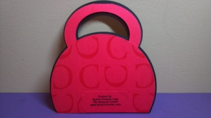 Purse Shaped Card - Back