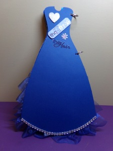 Dress Shaped Mini Album -  Page 1