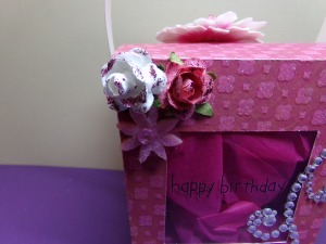 Chinese Takeout Birthday Box Close Up Flower Detail