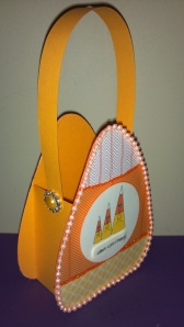 Crazy Candy Corn Treat Box - Side View