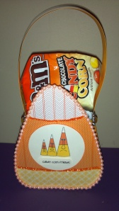 Crazy Candy Corn Treat Box - With Treats