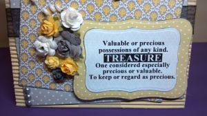 Valuable Treasure Birthday Card - Sentiment Detail