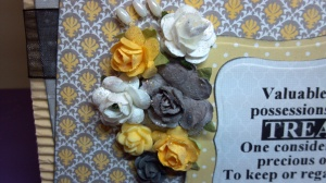 Valuable Treasure Birthday Card - Flower Detail