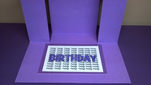 Center Step Birthday Card - Inside