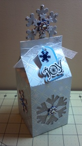 Christmas Snowflake Milk Carton Box