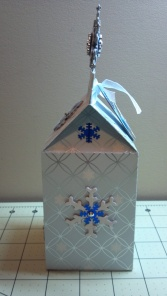 Christmas Snowflake Milk Carton Box Side