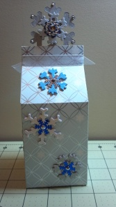 Christmas Snowflake Milk Carton Box Back